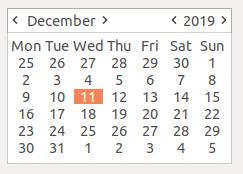 wx adv CalendarCtrl — wxPython Phoenix 4 1 0a1 documentation