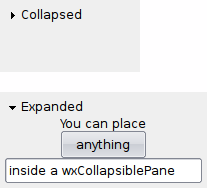 wx CollapsiblePane — wxPython Phoenix 4 1 0a1 documentation